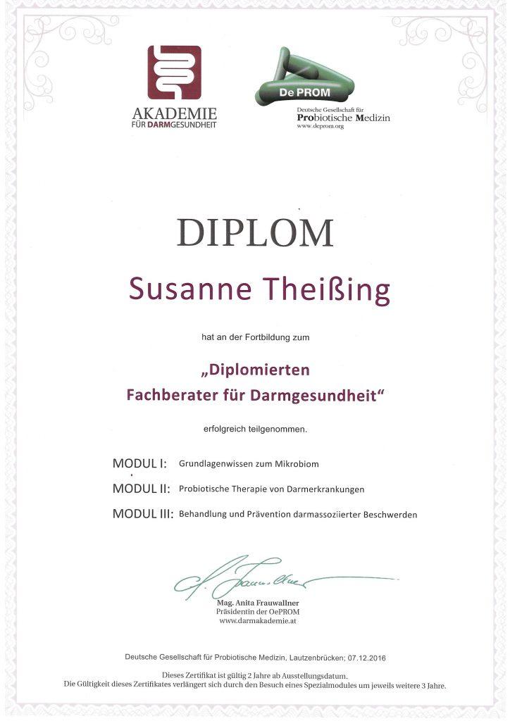 Diplom Fachberater Darmgesundheit